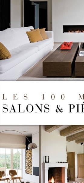 100 MEILLEURS SALONS ET PIECES A VIVRE